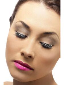 Diamonte False Eyelashes Ladies Self Adhesive False Lashes Fancy Dress Accessory