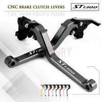 CNC Aluminum Long Adjustable Brake Clutch Levers for Honda ST1300/ST1300A 03-07