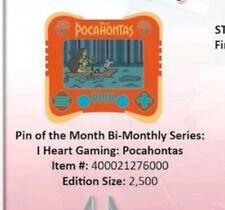 Disney parks I heart gaming  Pocahontas pin presale  July 18