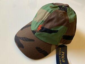 NWT Polo Ralph Lauren Unisex Kids Baseball Cap Hat in Camo One Size 4-7