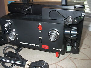 ELMO K-100SM DUAL 8 PROJECTOR (VARIABLE SPEEDS) NEW BELTS & TESTED