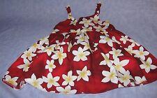 Royal Creations Made in Hawaii USA Hawaiian LUAU Dress W Adjustable Ties FLOWERS