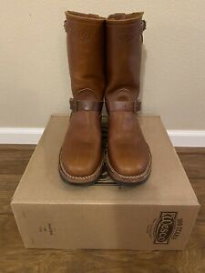Wesco Boss 7500 Engineer Boots Size 9.5 D Color British Tan Leather