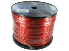 Connects2 10 gauge 10AWG Car Audio Power Cable RED - 150 metre drum roll bulk