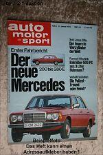 AMS Auto Motor Sport 3/76 DB W 123 Lotus Elite 2 CV Lloyd LP 300