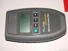 FLUKE Networks MicroScanner Pro 10/100 Cable Tester W/O Wire Map ADP Accessories