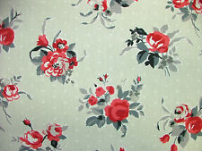 4m Prestigious Rose Ruby 100% Cotton Fabric Curtain Upholstery Quilting