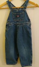 OshKosh Baby Girl Size 24M Overalls Denim Bib Vestbak Denim Blue Jean