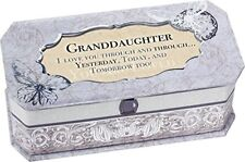 GRANDDAUGHTER PETITE PERIWINKLE JEWELRY Music Box Plays Song You are My Sunshine