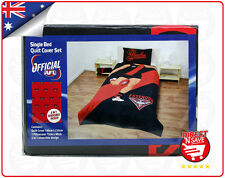 AFL Essendon Bombers Single Bed Quilt Cover Reversible Official Merchandise