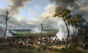 Horace Vernet The Battle of Hanau Giclee Canvas Print Paintings Poster