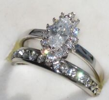 Cubic Zirconia Marquise Engagement Costume Rings