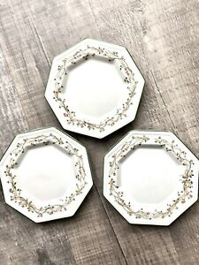 """3x Johnson Brothers Eternal Beau Side Plate Porcelain 6"""" IMMACULATE CONDITION"""