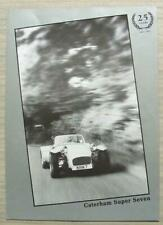 CATERHAM SUPER SEVEN CAR Sales Brochure 1982 LOTUS