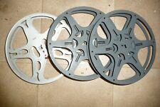 """Cine film 16mm empty reels aluminium & metal KODAK x 3 size 7""""        ...4"""