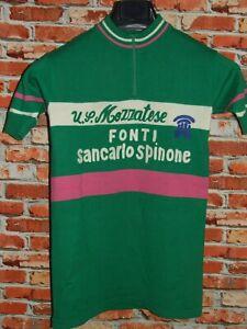 Shirt Bike Shirt Cycling Heroic Vintage 70'S Mezzatese 50% Wool Embroidered