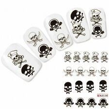 Nagel Sticker Nail Art Tattoo Skull Halloween Totenkopf Aufkleber Neu!
