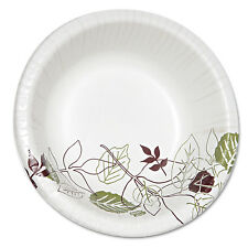 Dixie Pathways Heavyweight Paper Bowls 20oz White/Green/Burgundy 125/Pack