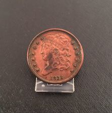 1832 Classic Head Half Cent High Grade, Old Cleaning