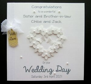 Large Personalised Wedding Day Congratulations Card Handmade ANY or NO RELATION