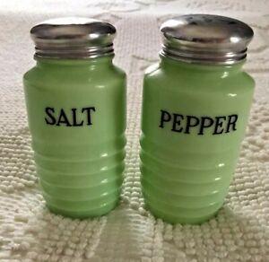 Vintage Jadeite Salt & Pepper Shakers