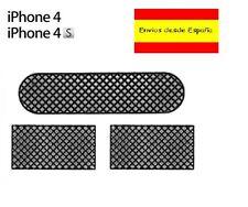 KIT REJILLA MALLAS ANTIPOLVO PARA IPHONE 4 Y 4S AURICULAR MICRO ALTAVOZ REJILLAS
