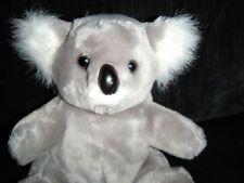 "Vintage 1985 Logo Bear Plush Stuffed Koala Bear Wild Animal Grey White 8"""