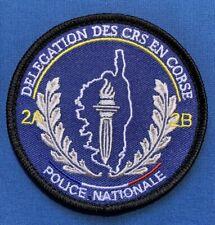 Ecusson POLICE NATIONALE DELEGATION DES C.R.S EN CIRSE 2A 2B