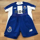 New Balance FC Porto 2019-20 Kids Football Home Kit Size 7-8 Years, Blue / White