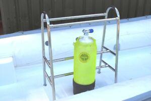 Dive Bottle Rack 6 Cylinder Bottle 316 Marine Stainless Steel Scuba RIB Diving