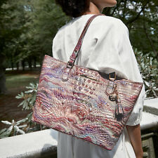 NWT Brahmin Aura Melbourne Textured Leather Medium Asher Tote Bag Purse $315