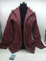 Size M Columbia Women's Switchback Lined Long Jacket (Maroon)