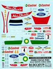 Colorado Decals 1/43 FORD FOCUS WRC RALLY MONTE CARLO 2008