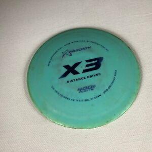 Prodigy Distance Driver Disc Golf X3 400G Plastic Blue 172g 4g USA Made Frolf