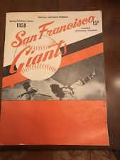 1971 SAN FRANCISCO GIANTS VINTAGE SOUVENIR PROGRAM GIANTS VS SANTA CLARA BRONCOS