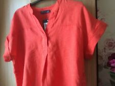 Beautiful Marks and Spencer Petite Collection Pure Linen top size 14. New with t
