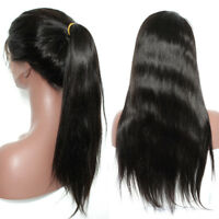 Remy Virgin Human Hair Wig Full Front Lace Silky Base With Baby Hair 1B Color S3