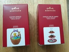 New HALLMARK EASTER SWEETS AND SWEETS FOR MY SWEET SPECIAL EDITION ORNAMENTS