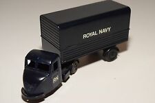 BUDGIE TOYS SCAMMELL SCARAB TRUCK WITH TRAILER RN ROYAL NAVY BLUE NEAR MINT