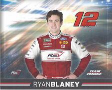 "2018 RYAN BLANEY ""REV VEHICLES PENSKE"" #12 NASCAR MONSTER CUP HERO CARD POSTCARD"