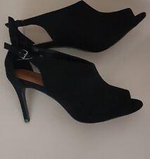 New NEXT Size 8 Black suede women boots shoes , heel, 42Eur