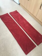 pair of rust brown curtains 46x54 inch drop approx.