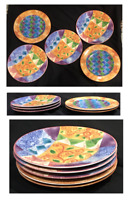 "SANGO Salad Sandwich Plates 7.75"" ""ANYTHING GOES""  Mix-Match by Sue Zipkin"