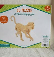 TOYSMITH  SET 2 Wooden Monkey/Elephant 3D puzzle