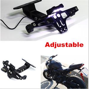 Angle Adjustable Aluminum Motorcycle License Plate Frame Tag Holder Bracket