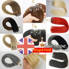 Silicone Micro Beads Micro Ring Loop Tip Hair Extensions Real Remy Human Hair 1g