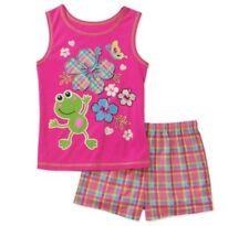 GIRL'S FROG FLAME RESISTANT 2PC PAJAMA SET SIZE. XS 4/5 NWT