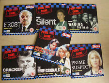 PRIME TIME CRIME CRACKER PRIME SUSPECT FROST ETC SET OF 7 DETECTIVE PROMO DVDS