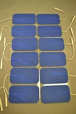 12 Replacement Pads for Massagers / Tens Units electrode 2 x 3.5Inch Blue Cloth