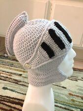 Hand Crochet Knight Helmet Hat Beanie Made to Order NEW!